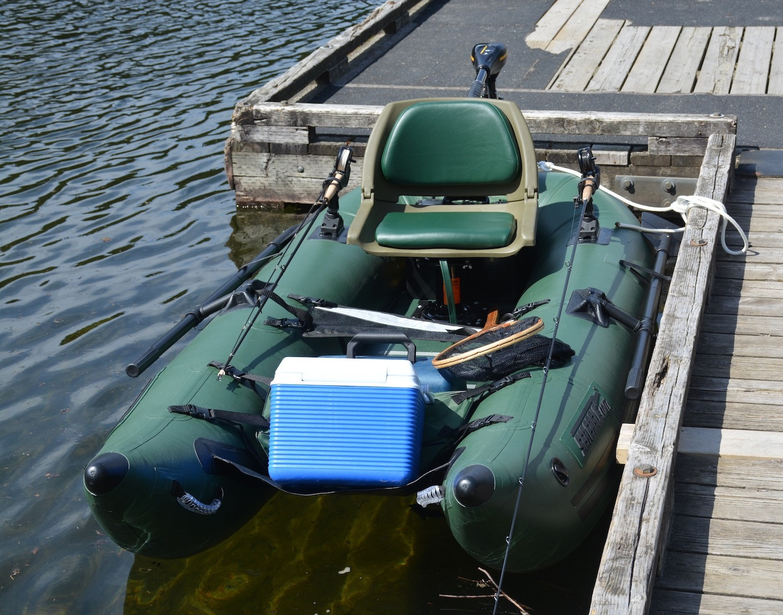 Sea Eagle frameless pontoon boat with motor