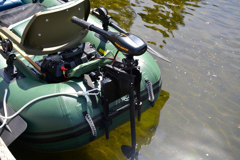 frameless pontoon boat with motor